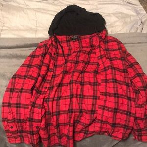PacSun hooded flannel